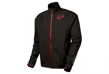 veste coupe vent impermeable fox downpour light noir rouge
