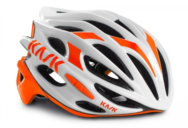 casque kask mojito blanc orange