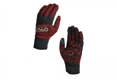 gants oakley factory park rouge noir