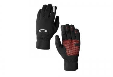 gants longs hiver oakley core windstopper noir rouge