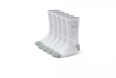 chaussettes oakley performance basic crew 5 paires blanc