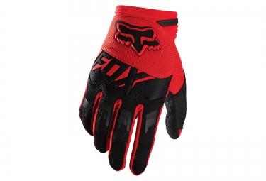 gants longs enfants fox dirtpaw rouge noir