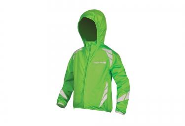 veste impermeable enfant endura luminite ii haute visibilite vert
