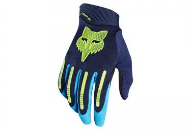 gants longs fox demo air bleu