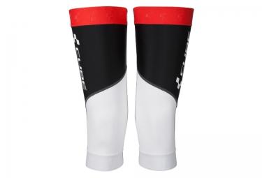 paire de genouilleres cube race blanc noir rouge