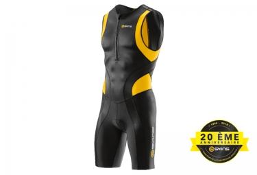 combinaison tri fonction skins tri400 zip avant homme noir jaune