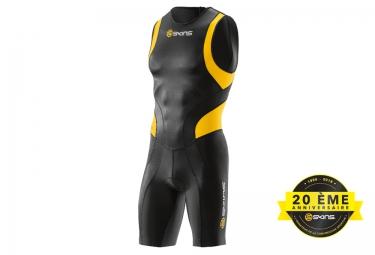 combinaison tri fonction skins tri400 zip arriere homme noir jaune