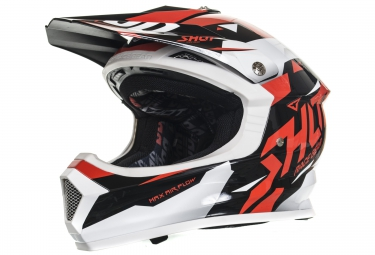 casque integral enfant shot furious splinter rouge