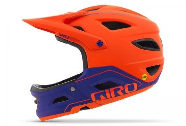 casque avec mentonniere amovible giro switchblade mips orange violet
