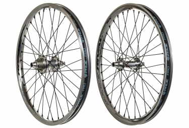 paire de roues pride racing rival pro sx 20 argent