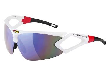 paire de lunettes northwave zeus blanc rouge