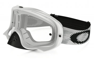 masque oakley crowbar mx blanc transparent ref 57 952