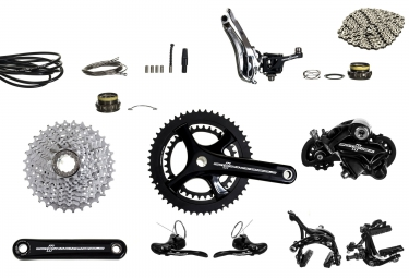 groupe complet campagnolo potenza 52 36 172 5mm 12 27 noir