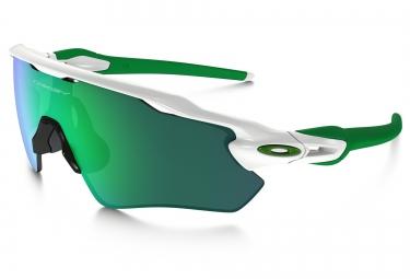 oakley lunettes radar ev path blanc vert jade iridium ref oo9208 4838