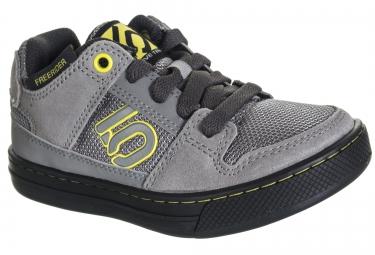 chaussures vtt five ten freerider enfant gris jaune