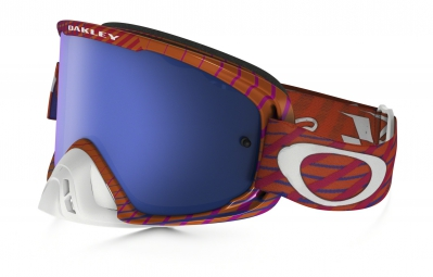 masque oakley o2 mx tld rouge bleu iridium ref oo7068 22