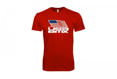 t shirt usa bmx flag on stacked rouge
