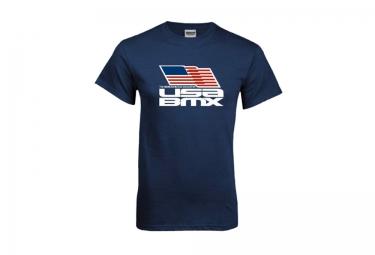 t shirt usa bmx flag on stacked bleu