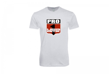 t shirt usa bmx pro 1 shield blanc