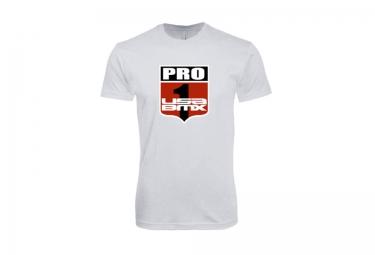 t shirt usa bmx pro 1 shield blanc