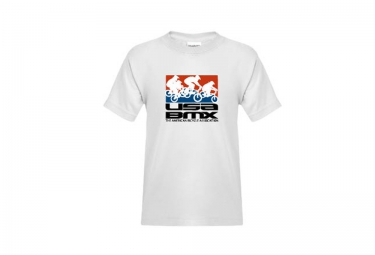 t shirt enfant usa bmx riders on stacked blanc