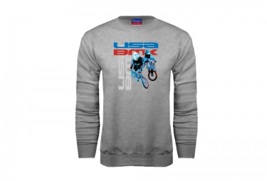 sweat usa bmx riders gris