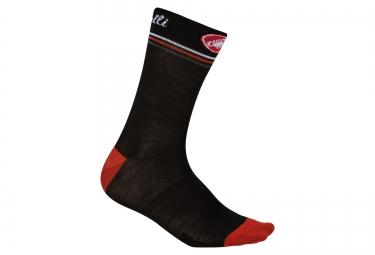 paire de chaussettes castelli atelier noir rouge