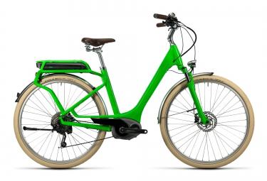 velo de ville electrique cube elly ride hybrid 400 shimano deore 10v vert