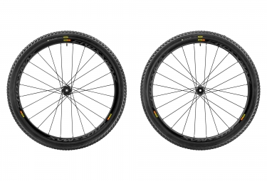 paire de roues mavic 2017 crossmax pro carbon wts 29 boost 15x110 mm 12x148 mm corps