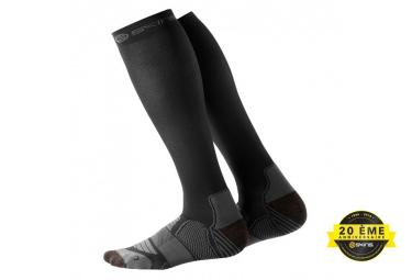 chaussettes de compression skins essentials noir gris