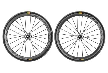 paire de roues mavic 2017 cosmic pro carbon disc pneus shimano sram yksion pro 25mm