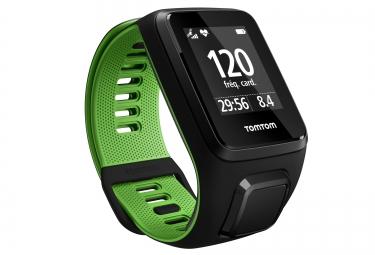 montre gps tomtom runner 3 cardio bracelet fin noir vert