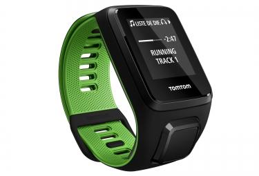 montre gps tomtom runner 3 cardio music bracelet fin noir vert