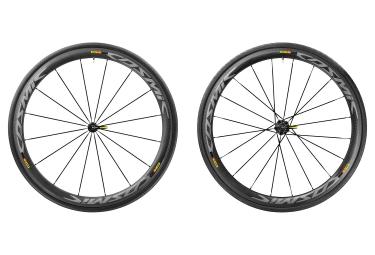 paire de roues mavic 2017 cosmic pro carbon sl a boyaux sram shimano yksion pro 25mm