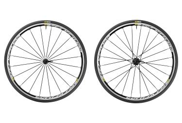 paire de roues mavic 2017 ksyrium noir sram shimano yksion elite 25mm