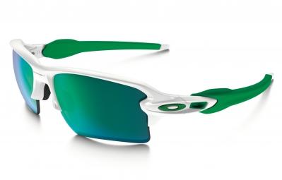 lunettes oakley flak 2 0 xl blanc vert iridium ref oo9188 6359
