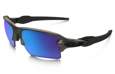 lunettes oakley flak 2 0 xl metals collection gris bleu iridium ref oo9188 6159