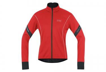 veste coupe vent gore bike wear power 2 0 windstopper rouge noir