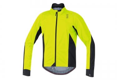veste impermeable gore bike wear oxygen 2 0 gore tex jaune noir