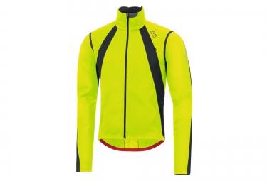 veste thermique coupe vent gore bike wear oxygen windstopper jaune noir