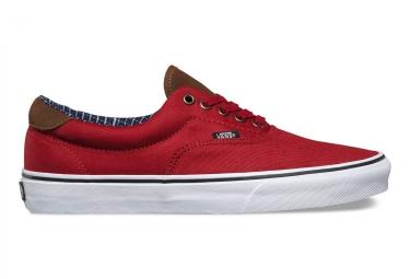 chaussures vans cord plaid era 59 rouge