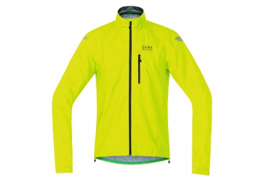 veste impermeable gore bike wear element active gore tex jaune