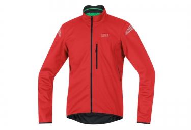 veste soft shell gore bike wear element windstopper rouge