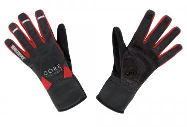 gants hiver gore bike wear universal mid windstopper noir rouge