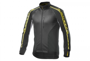 veste coupe vent mavic cosmic elite thermo noir blanc 2017