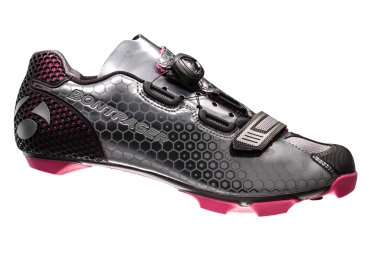chaussures vtt femme bontrager tinari gris rose