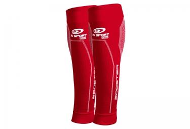 manchons de compression mollet bv sport booster elite rouge