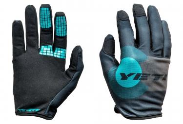 gants longs yeti summit gris bleu