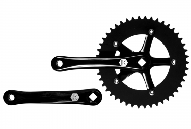 pedalier lebram single speed 46 dents longueur 165mm noir