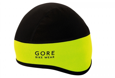 sous casque gore bike wear universal windstopper noir jaune